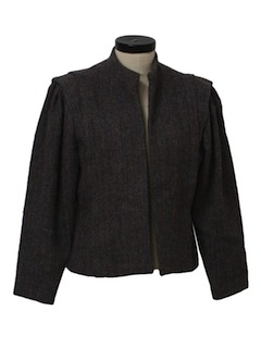 1980's Womens Totally 80s Wool Blazer Jacket