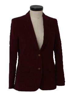 1980's Womens Corduroy Blazer Jacket