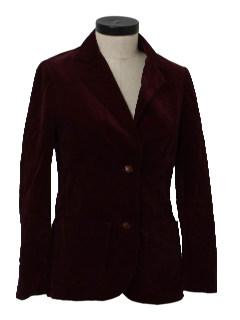 1970's Womens Velvet Blazer Jacket