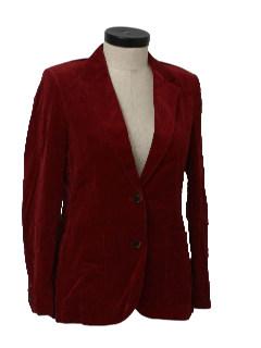 1980's Womens Velvet Blazer Jacket