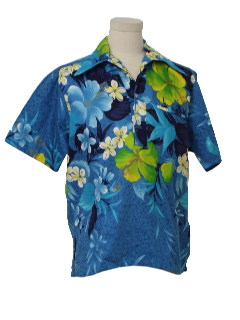 1970's Mens Pullover Hawaiian Surf Shirt