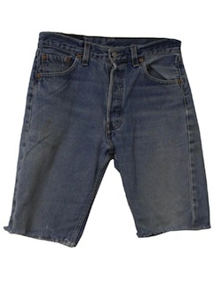 1980's Mens Levis 501 Cut Off Jeans Shorts