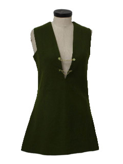 1960's Womens Mod Tunic Cut Mini Dress