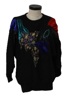 1980's Womens Totally 80s Oversized Cocktail Sweater