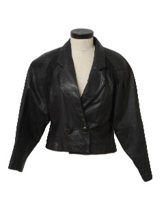 1990's Womens Totally 80s Leather Jacket