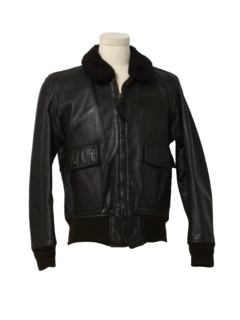 1970's Mens G-1 Naval Leather Flight Bomber Jacket