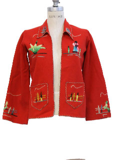 1940's Womens Mexican Tourist Jacket