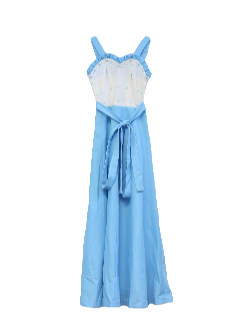 1960's Womens/Girls Maxi Dress