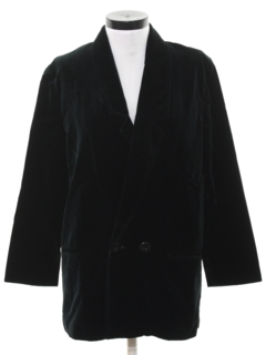 1980's Womens Totally 80s Velvet Boyfriend Blazer Jacket