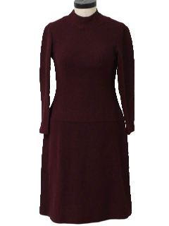 1960's Womens Wool Mod Dress