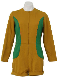 1970's Womens Cheerleader Romper Jumpsuit