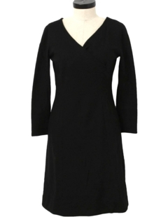 1960's Womens New Look little Black Cocktail Dress