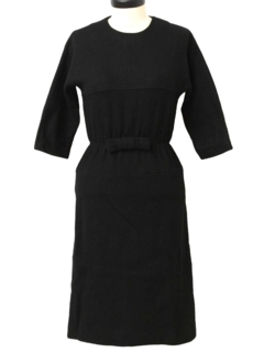 1950's Womens Fab Fifties Little Black Semi Formal Cocktail Dress