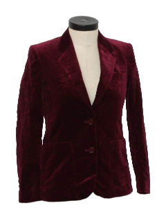 1980's Women Totally 80s Velvet Blazer Jacket