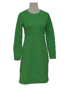 1960's Womens/Girls Mod Mini Knit Dress