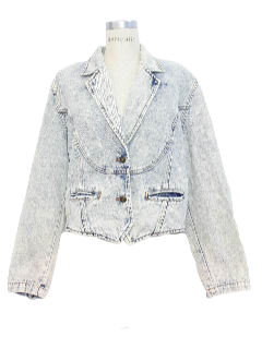 1990's Womens Acid Washed Denim Jean Jacket