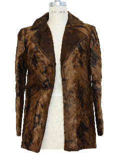1970's Womens Faux Fur Blazer Jacket