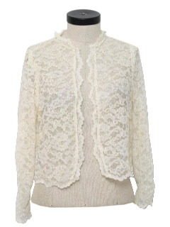 1970's Womens Lacey Bolero Shirt Jacket