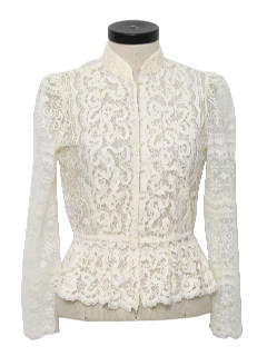 1970's Womens Lace Prairie Shirt