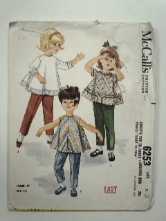 1960's Womens/Childs Pattern
