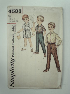 1960's Mens Childs Pattern