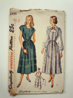 3df20830388e6 Womens 1940's Sewing Patterns at RustyZipper.Com Vintage Clothing