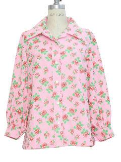 1960's Womens Print Shirt