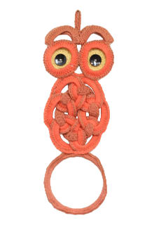 1970's Home Decor - Owl Macrame