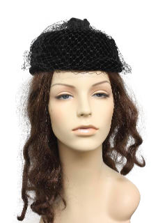 1960's Womens Accessories - Veiled Hat
