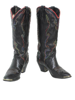 1980's Womens Accessories - Western Boot Shoe