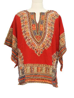 1970's Mens Dashiki Hippie Shirt
