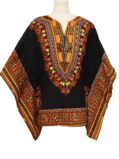 1980's Unisex Hippie Dashiki Shirt