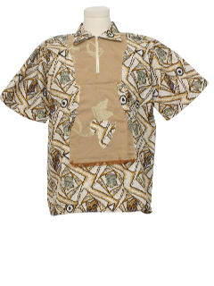 1980's Mens Ethnic African Shirt