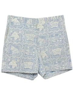 1980's Mens Totally 80s Hawaiian Saturday Shorts