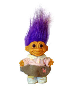 1990's Home Decor - Troll Doll