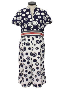 1960's Womens Designer Mod Dress