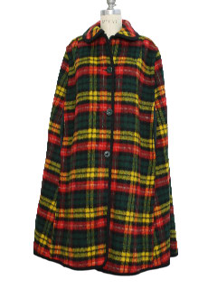 1970's Womens Wool Poncho Jacket