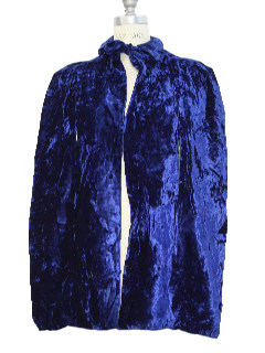 1960's Womens Velvet Cape Jacket