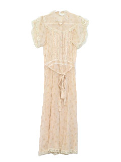 1970's Womens Gunne Sax Prairie Dress
