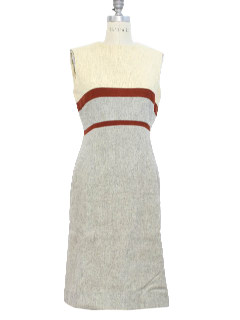 1980's Womens Mod Wool Dress