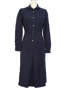 1980's Womens Wool Dress