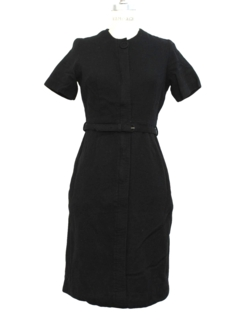 1950's Womens Designer Wool Day Dress