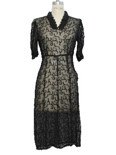1930's Womens Sheer Nightie or Over Dress