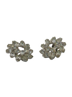 1960's Womens Accessories - Clip On Earrings