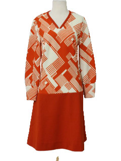 1970's Womens Designer Knit Dress