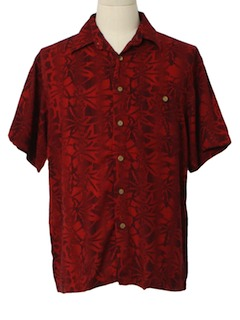 1980's Mens Totally 80s Hawaiian Inspired Sport Shirt