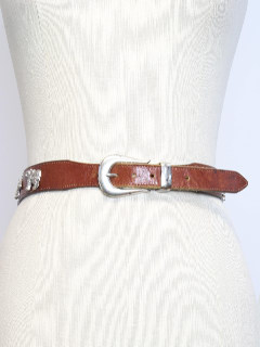 1980's Womens Accessories - Totally 80s Leather Belt