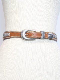 1980's Unisex Leather Western Belt