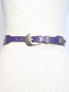 1980's Womens Accessories - Totally 80s Leather Western Belt