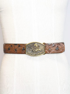 1980's Mens Accesories - Western Leather Belt